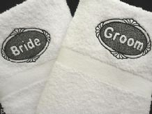 PERSONALISED BRIDE & GROOM TOWELS